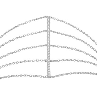 Journee Collection Sterling Silver Cubic Zirconia Multi Strand Bracelet