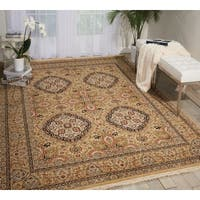 Nourison Royalty Khaki Area Rug - 7'9 x 9'9