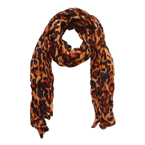 Peach Couture Leopard Print Multicolored Viscose Infinity Loop Scarf