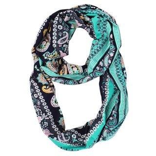 Link to Peach Couture Women's Henna Floral Paisley Print Boho Infinity Scarf Similar Items in Scarves & Wraps