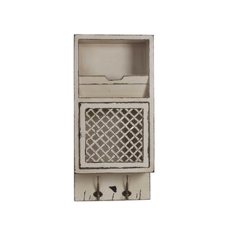 Privilege White Wood Storage Wall Cabinet