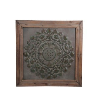 Privilege Brown and Grey Wood/Metal Wall Decor - 38x3x38
