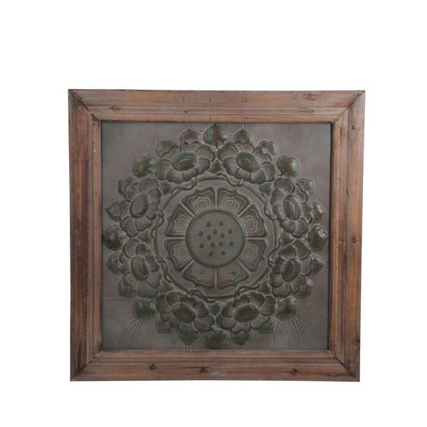 Privilege Brown and Grey Wood/Metal Wall Decor