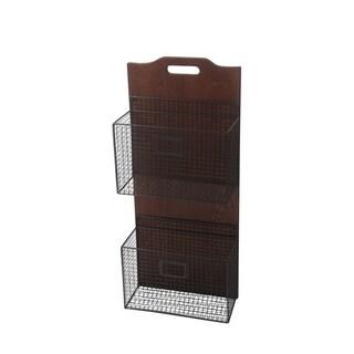 Privilege Wood/Metal 2-tier Wall Storage