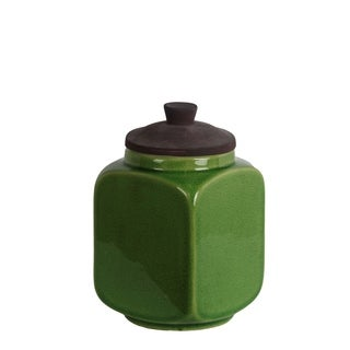 Privilege Small Green Ceramic Jar