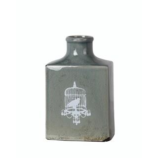 Privilege International Green Ceramic Medium Bird Vase
