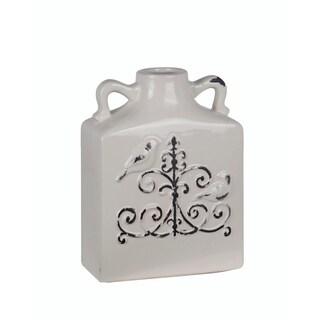 Privilege White Ceramic Antique Bird Vase