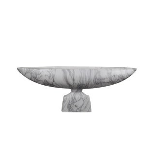 Privilege Grey and White 29.5-inch Marble Bowl