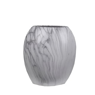 Privilege Grey and White Marble 13.5-inches Vase