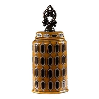Privilege International Spotted Yellow Ceramic Medium Vase