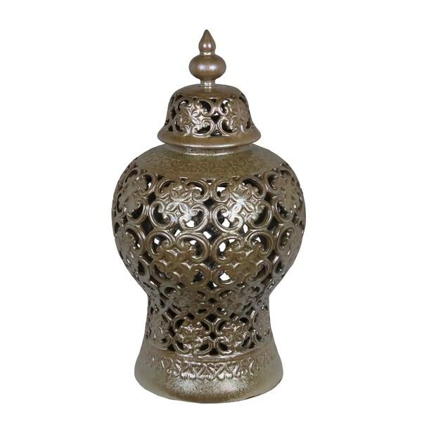 Privilege International Brown Ceramic Large Vase