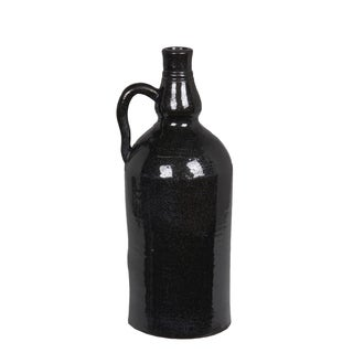Privilege International Black Ceramic Large Vase