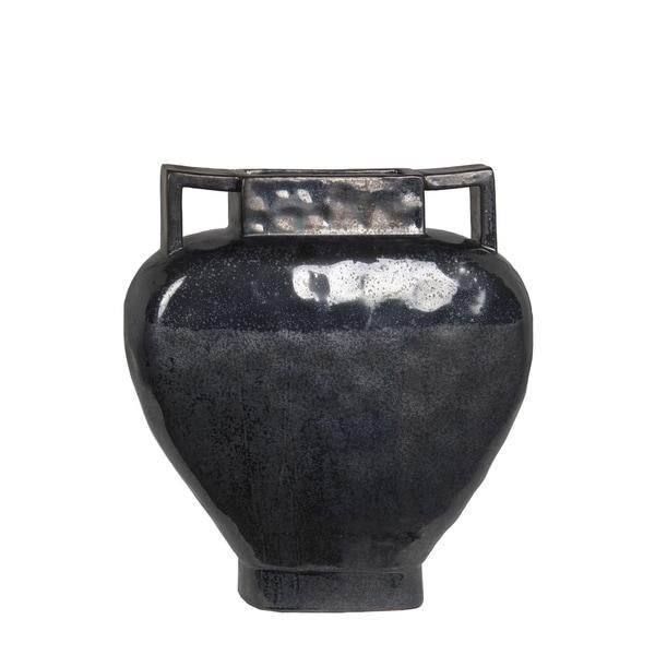Privilege International Balck Ceramic Small Vase Free Shipping