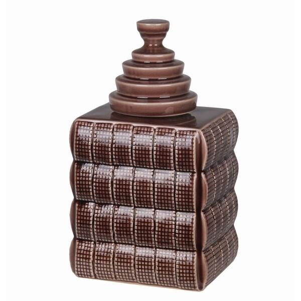Privilege Purple Small Ceramic Jar with Lid