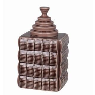 Privilege Crackle Purple Large Ceramic Jar with Lid