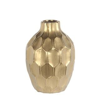 Privilege Gold-colored Ceramic Large Vase