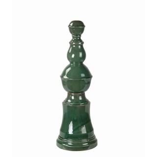 Privilege Green Ceramic Large Finial