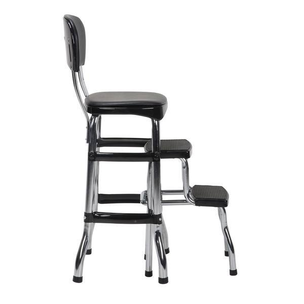 Brilliant Shop Cosco Black Retro Counter Chair Step Stool Free Ncnpc Chair Design For Home Ncnpcorg