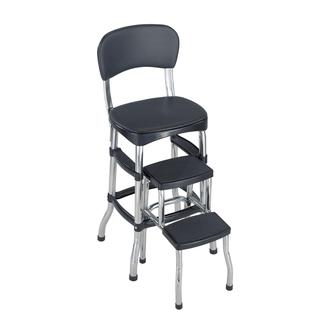 COSCO Black Retro Counter Chair/ Step Stool