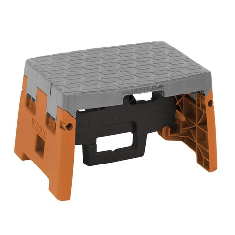 COSCO 1-step Molded Black, Orange, and Grey Type 1A Folding Step Stool