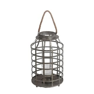 Privilege Grey Iron Large Candle Lantern