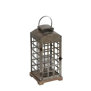 Privilege International Brown Metal Large Lantern