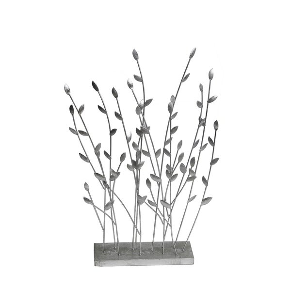 Shop Privilege International Silver Metal Decorative Leaves Stand