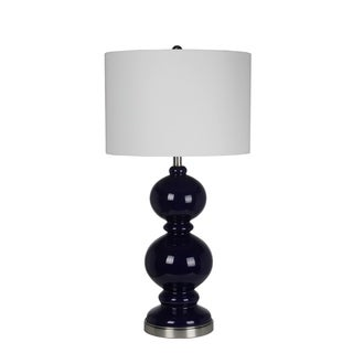 Privilege International Blue Glass 34-inch Table Lamp