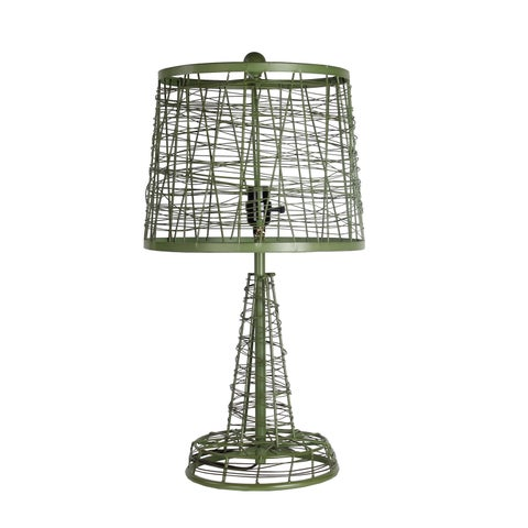 Privilege International Green Iron Table Lamp