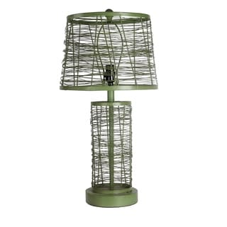 Privilege International Green Iron Table Lamp