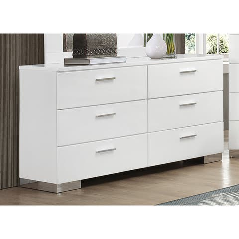 Coaster Company Felecity White/Chrome Wood Dresser