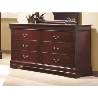 Coaster Company Louis Philippe Cherry Wood Dresser