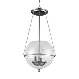 Sea Gull Havenwood 3 Light Chrome Pendant
