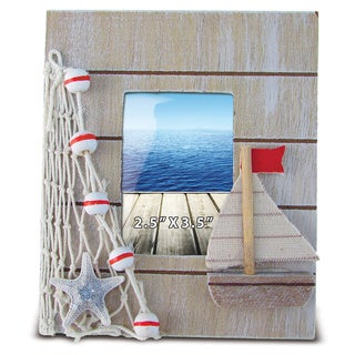 Nautical Decor Brown Frame