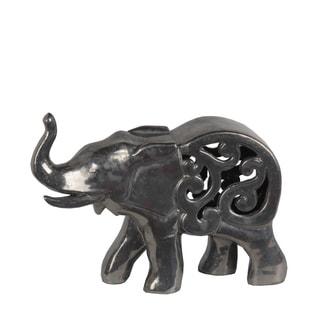 Privilege Pewter Ceramic Large Elephant Figurine