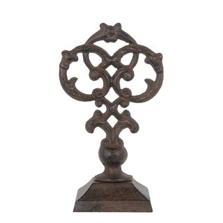 Privilege Internatioinal Rust Brown Metal Decorative Finial