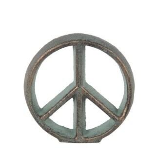 Privilege International Verde Green Metal Peace Sign