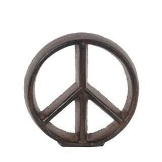 Privilege Rust Brown Peace Sign Figurine