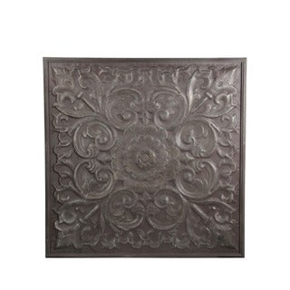Privilege Grey Wood and Metal Wall Decor