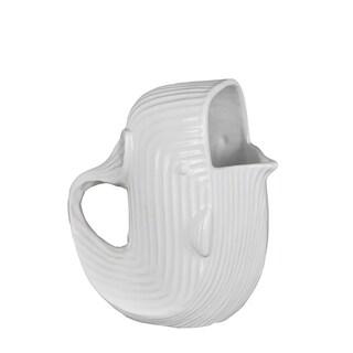 Privilege International White Ceramic 10-inch Whale Pitcher