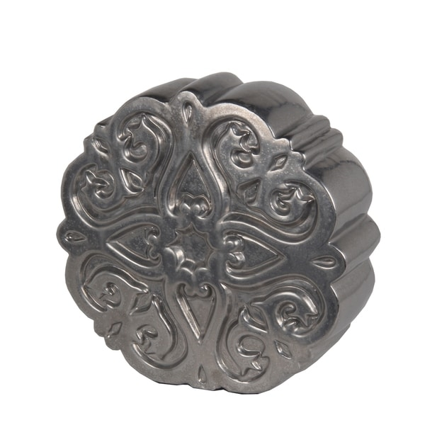 Privilege Pewter Flower-pattern Ceramic Small Figurine