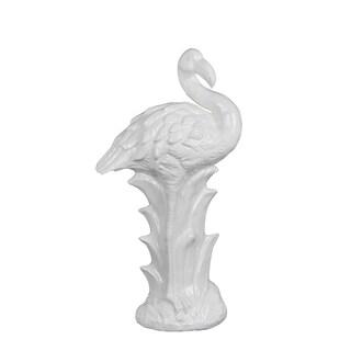 Privilege International White Ceramic Medium Flamingo