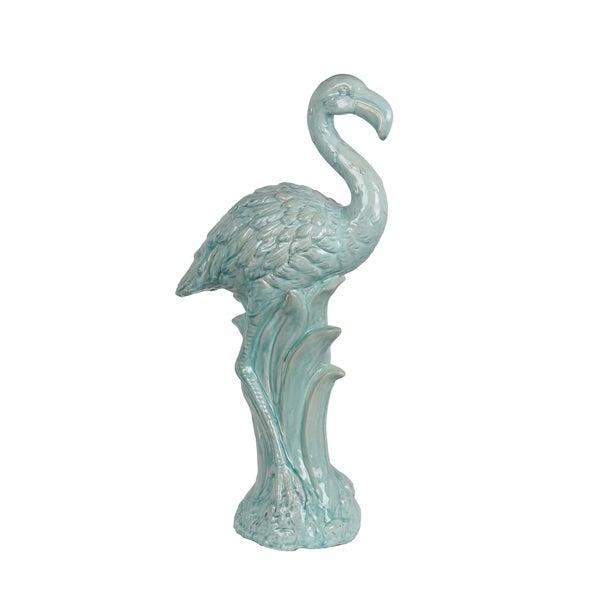 Privilege Blue Ceramic Large Flamingo