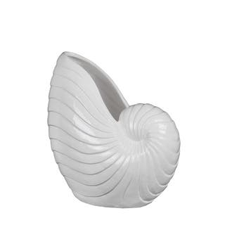 Privilege White Ceramic Large Seashell