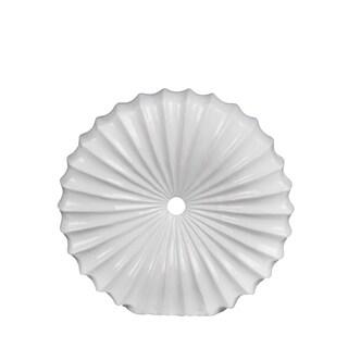 Privilege International White Ceramic Medium Disc Figurine