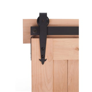 Ironwood Hardware Black Metal Cathedral Barn Door System
