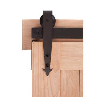 Ironwood Hardware Cathedral Dark Bronze 7 ft. Barn Door Track System