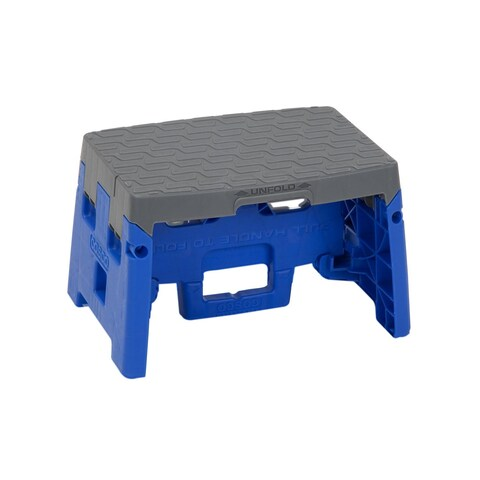 COSCO 1-Step Molded Blue and Grey Type 1A Folding Step Stool