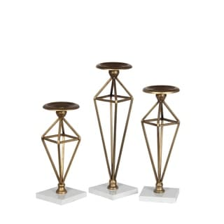 Privilege Brass Candle Holders (Set of 3)
