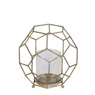 Privilege Small Goldtone Metal Candle Holder